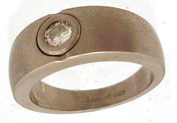 1314: Titanium .50ct Moissanite Round Mens Ring