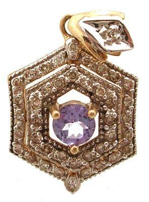 810: 10KY 1/5 cttw Tanzanite Diamond pendant