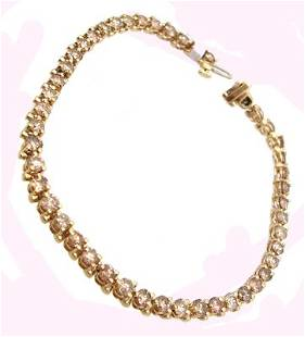 14KY 5.25cttw Congac Diamond Rd Bracelet