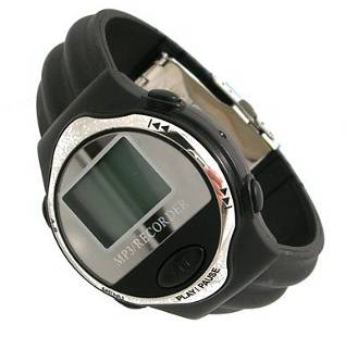 Techno Tunes MP3 Player Blk Strap Mens Watch