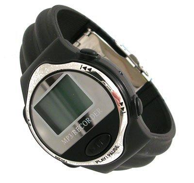 1117: Techno Tunes MP3 Player Blk Strap Mens Watch