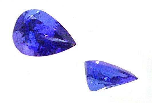 1181: 6.04ct VVS1 Tanzanite pear 9x13.6m APP $9060.00