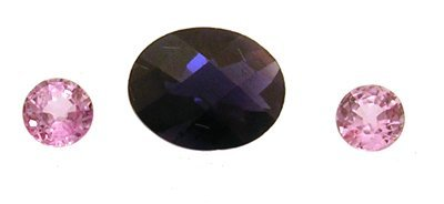 1309: 2+Ct. Iolite Pink Saphire Loose Stone Suite