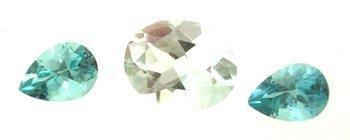 1310: 3.5ct+ Aquamarine Oval Apatite Pear Suite
