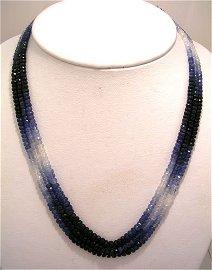 1340: 249ct Ceylon graduated Sapphire Faceted bead 3 St