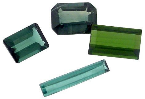 8: 2.88ct Mix Green Tourmline Loose Stones 4pc