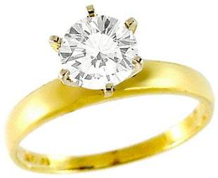 1ct Cubic Zirconia Round Engagement ring