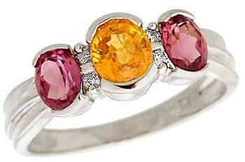 2012: wg Rhodolite & Mandrin Garnet w/ Diamond PPF Ring