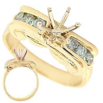 2023: .50ct Blue Diamond rd Ionic Semi mount Ring