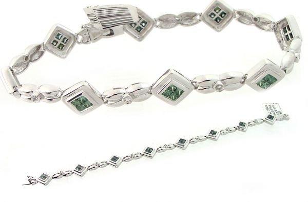 2024: 2.86ctw Princess-Cut Blue Diamond 8in Bracelet