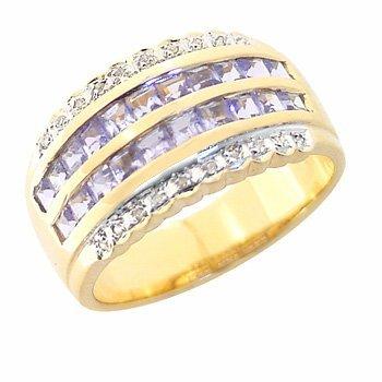 3008: YG 1.04Ct Tanzanite ring