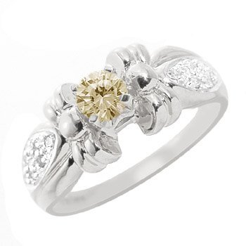 3021: WG .38ct diamond .06dia pavé bow band ring