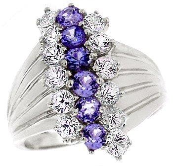 3022: WG 2cttw Tanzanite White Sapphire ring