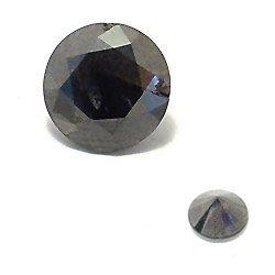 3024: 12.2mm 9.34ct Loose Black Diamond Round