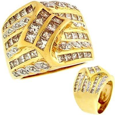 3050: 14YG 2.15ct Diamond princess channel band ring