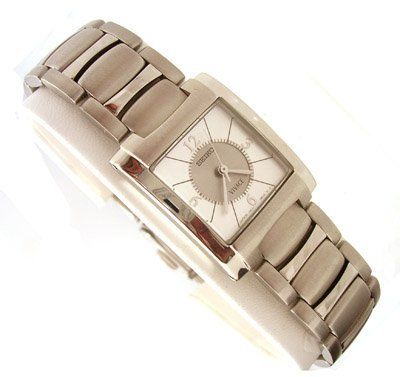 1119A: SSteel Seiko Silver Sq Dial Watch