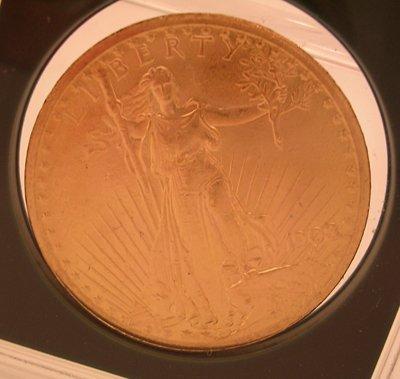 72: 22KY 1908 Very Rare $20 St Gaudens Liberty Coin