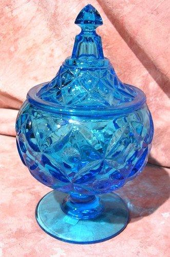 2121: HFM Fostoria Argus Flint Glass~ Cobalt Blue Candy