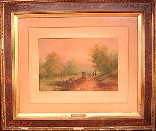 Watercolor by listed artist Louis Thomas