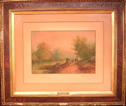 25006: Watercolor by listed artist Louis Thomas