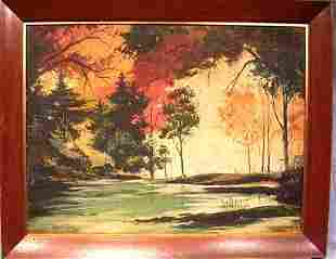 Oil on Board by listed artist Robert O. Frick