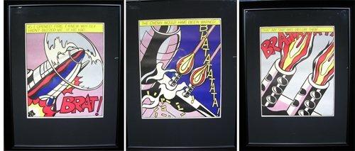 25013: Vintage Poster Set from Roy Lichtenstein