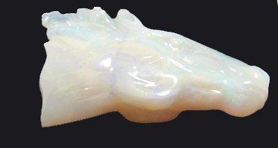 3113: 12.02ct Australian Opal Horse Head Carving