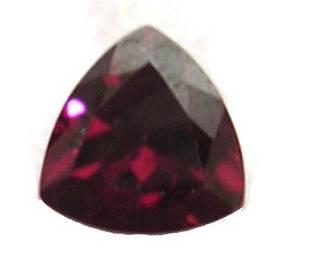 3ct + Natural Red Zircon 9mm trillion