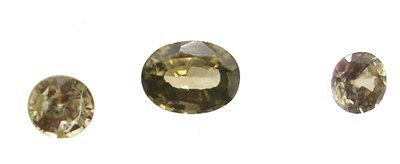 3115: 1.50ct + Green Zircon Oval Round Loose Suite