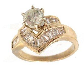 4117: 14KY 1.54cttw Diamond Rd Bagg Swirl Ring