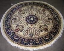 4145: Amazing Quality Round Pak Persian Rug 5x5