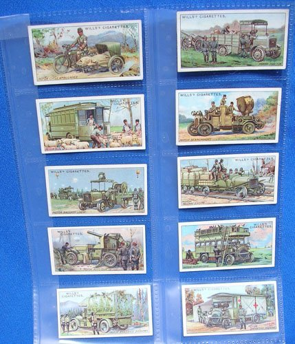 5118: Cigarette cards Military Motors of Great War 1916