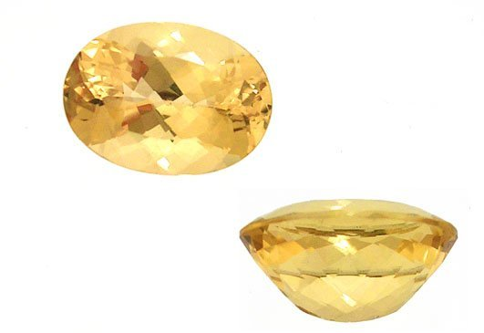 2116: 5.50ct + Heliodor golden beryl 14x10mm oval loo