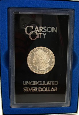 2160: Silver 1880-CC Morgan Dollar UNC