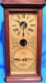 2215F: Antique Ithaca Large Double Dial Calendar Clock-