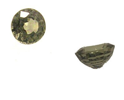 3110: 1.15+ct Green Sapphire Round Loose Stone 6mm