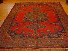 3199G: SEMI ANTIQUE PERSIAN (VISS) SERAPI RUG 10x8