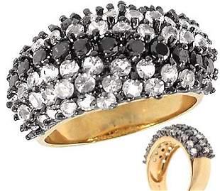 14k 2.64ctw Black diamond/white sapphire Ring