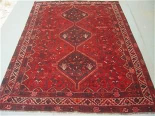 Semi Antique Rugs Persian Qashqai Carpet 10x7