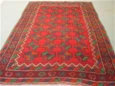 4063: Semi Antique Rugs Afghan Kurdish Rug 9x7
