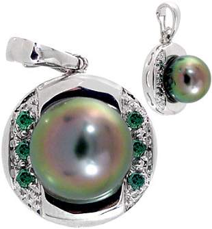 WG 9.5/10m Tahitan pearl .12blue dia pendant