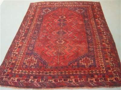 5064:  Semi Antique Rugs Persian Qashqai Carpet 10x7