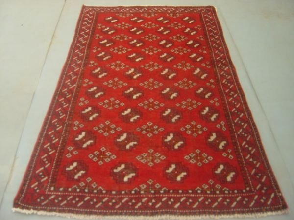 5011: Semi Antique Rugs Persian Bokara Rug 6x4