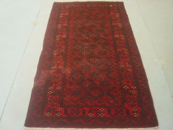5012: Semi Antique Rugs Persian Saveh Rug 7x3