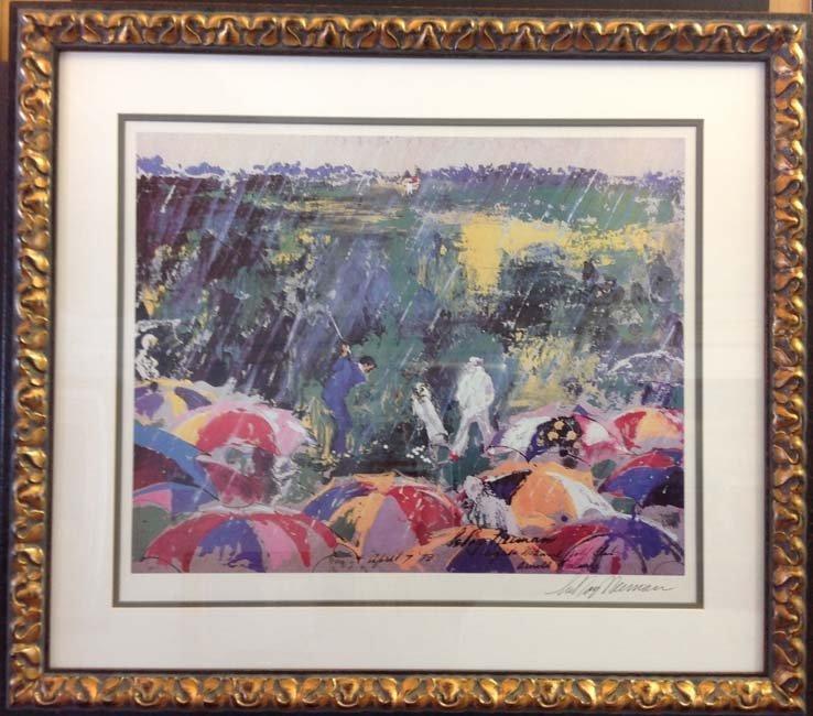 Arnie in the Rain by Leroy Nieman