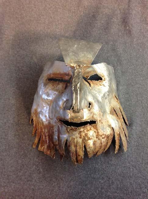 Bearded metal mask by Marian Owczarski