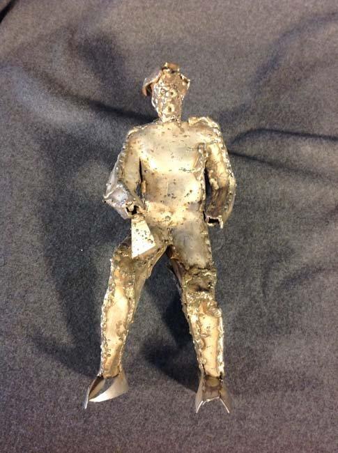 Metal Sculpture Male Figure by Marian Owczarski