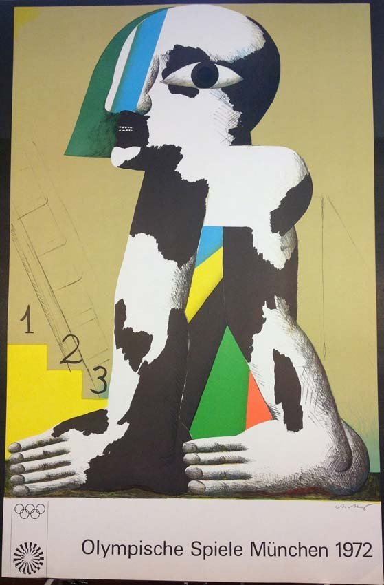 Horst Antes Olympic Games Poster Munich 1972