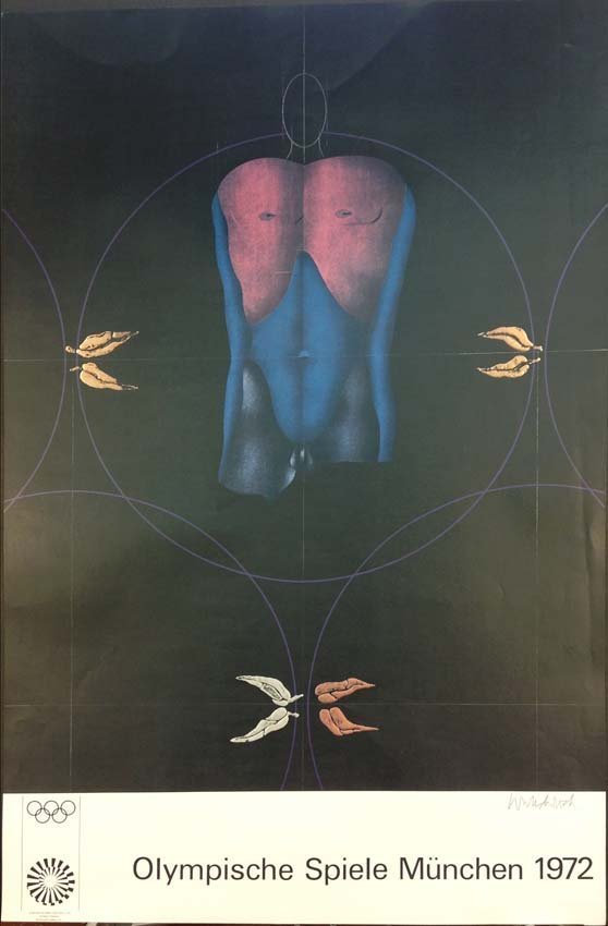 Paul Wunderlich Olympic Games Poster Munich 1972