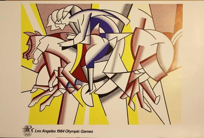L.A 1984 Roy Lichtenstein Olympic Games poster